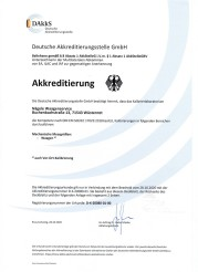 Kalibrielabor nach DIN EN ISO/IEC 17025:2008
